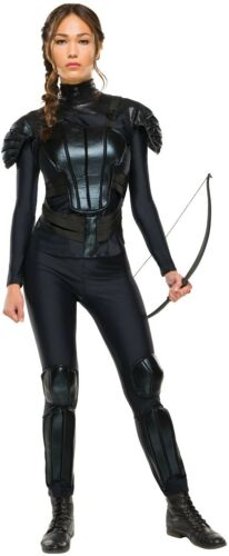 Ladies UFFICIALE Hunger Games Katniss Rebel Costume Outfit UK 6-16