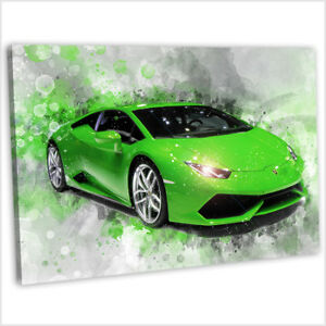 Image Is Loading Lamborghini Canvas Print Framed Abstract  Watercolour Painting Art