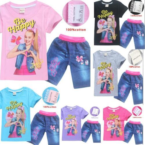 JOJO siwa Kids Girls T-shirts Tops Shirts tshirts Jeans Pants trouser outfits Uu