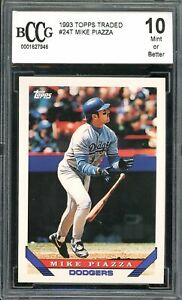 1993 Topps Traded #24T Mike Piazza Card BGS BCCG 10 Mint+