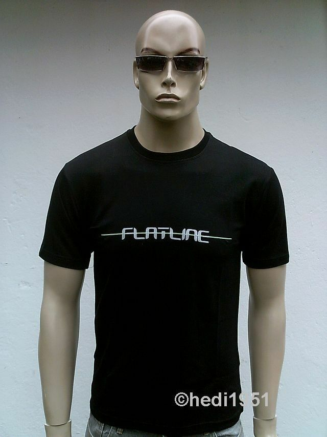 TICILA FLATLINE Cooles House DJ Szene Clubwear Club Power T-SHIRT M