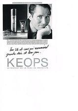 PUBLICITE  1985    KEOPS   cosmétiques homme