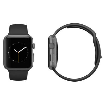 Apple Watch Series 3 38mm Space Grey Aluminium Black Sport Band (GPS + Cellular)