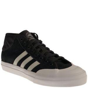 buy popular 18b66 67dd7 Image is loading Adidas-MATCHCOURT-MID-ADV-Core-Black-Light-Grey-