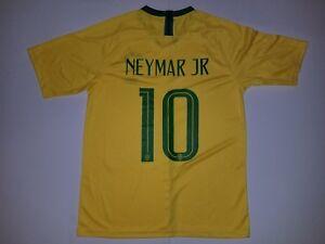 Men s NEYMAR  10 2018 World Cup Brazil Soccer Team Yellow Soccer ... 91296116800c