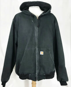 7117fe2a24 Image is loading Vintage-Carhartt-Duck-Jacket-3XL-Tall-Black-Thermal-