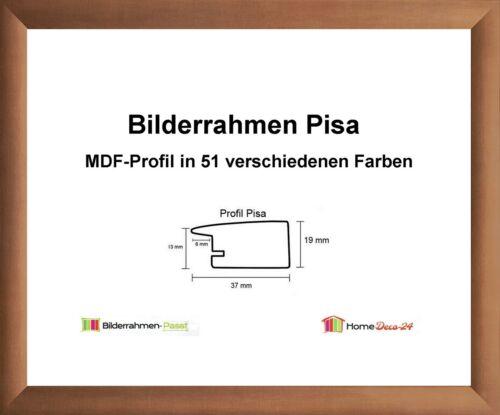 Pisa MDF-Bilderrahmen Metall I von 71 x 90 bis 71 x 99 cm