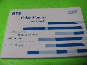 MONITOR IBM G78 DRIVERS UPDATE