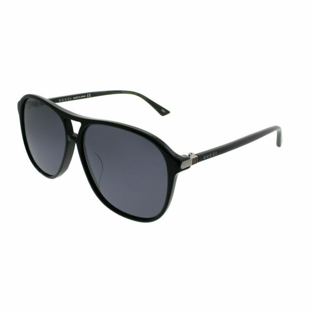 4dfa3fee1fe Gucci Design Sunglasses Gg0016sa 002 Black Frame With Silver Lens ...