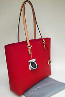 Oroton Estate Tote Handbag Bag Leather Red O Charm Rrp$295