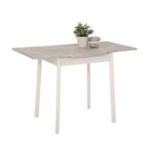 Details zu Kleiner Küchentisch Trier Minitisch Beton ausziehbar Singletisch  Esstisch