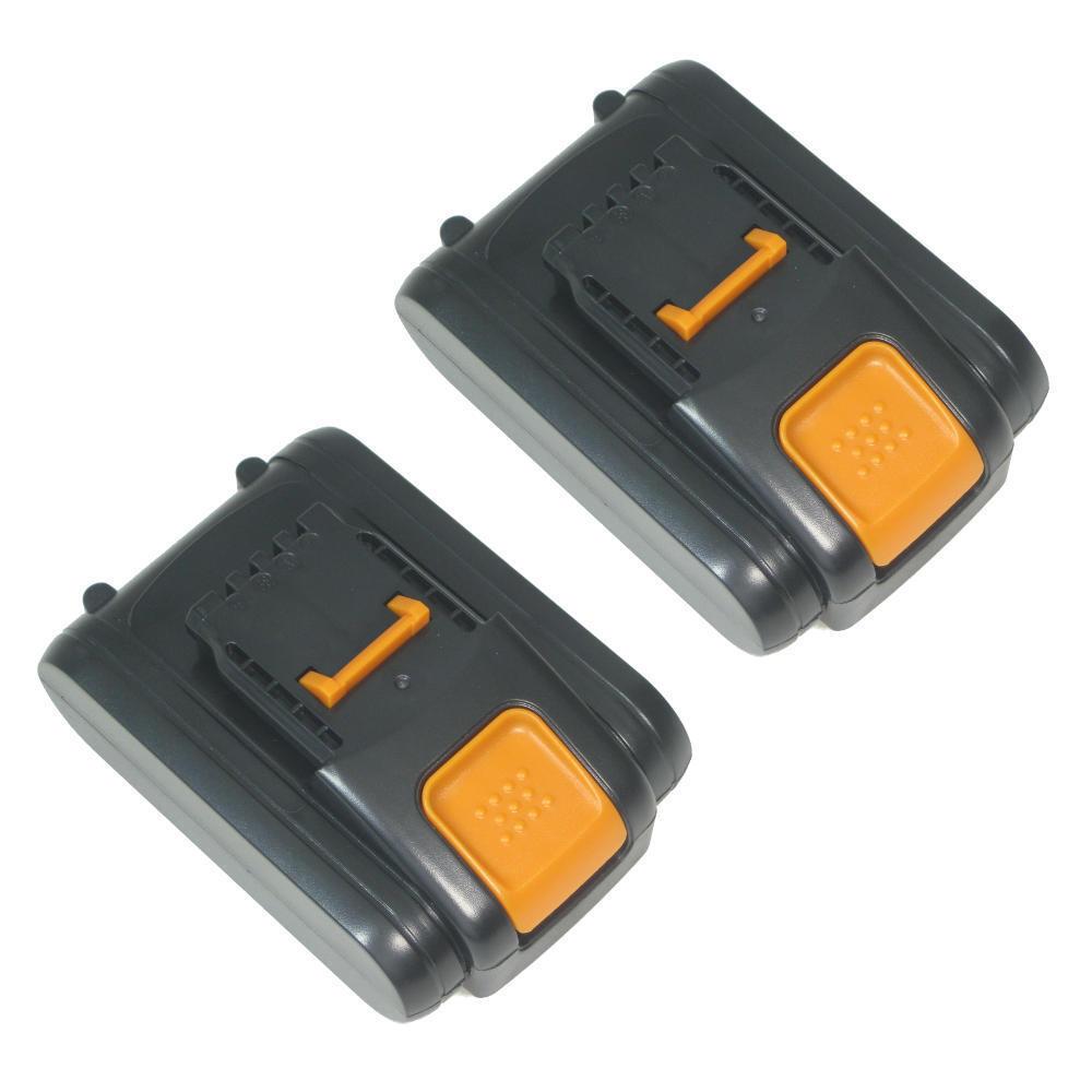 2x Hochleistungs AKKU 20V 2000mAh Li-Ion für Worx WG169E WG549 WX372 WX678 WG251