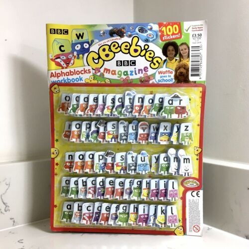 CBeebies Magazine With 63 Alphablocks Foam Letter Tiles And Over 100 Stickers