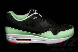5a31101f21b7f8 NIKE AIR MAX 1 FB YEEZY Sz 8-12 BLACK FRESH MINT PINK FLASH 579920 ...