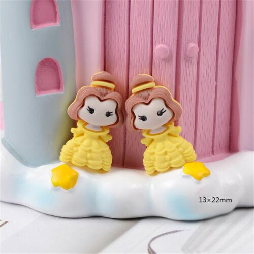 x10 Lote de Mezclados Tipo Resina Princesa Niñas Craft Cabujones Flatbacks las decoraciones
