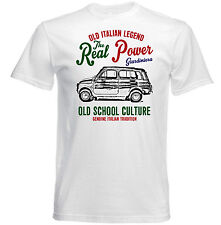 VINTAGE ITALIAN CAR FIAT 500 GIARDINIERA - NEW COTTON T-SHIRT