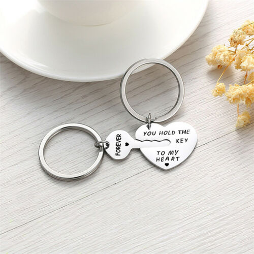 New Unique Stainless Steel You Hold The Key To My Heart Couple Keychain G