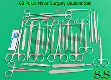 68 Pc Us Minor Dissection Student Suture Kit Forceps Ss 510