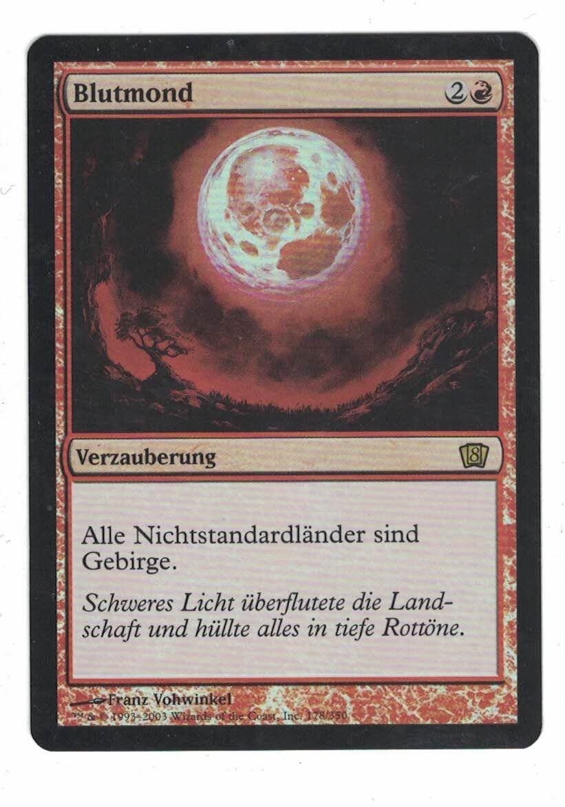 1x placa lunar de sangre - Alemania - fbb - EDH - Retro - moderna