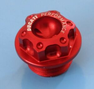 DUCATI PERFORMANCE 1098 DRY CLUTCH FILLER PLUG BILLET MACHINED FROM SOLID RED