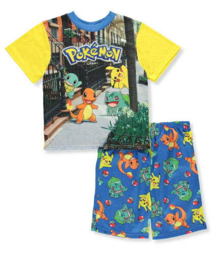 Pokemon Boys Two-Piece Pajama Short Set Size 4 6 8 10 $36