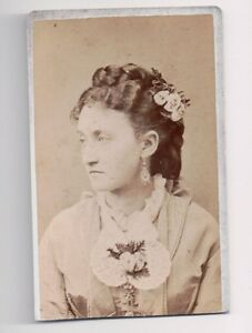 Vintage-CDV-Unknown-Lady-of-Means-W-L-Sutton-Photo-Hornellsville-New-York