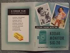 1946 KODAK MONITOR SIX-20 MANUAL PICTURE TAKING FLASH SUPERMATIC SHUTTER – KODAK
