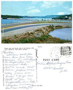 CANADA-Postcard-Nova-Scotia-Dartmouth-Banook-Lake-amp-Micmac-Lake-B24