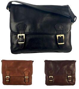 Cartella Borsa Ufficio Messenger Vera Pelle Bag Lavoro Tracolla Vintage Ebay