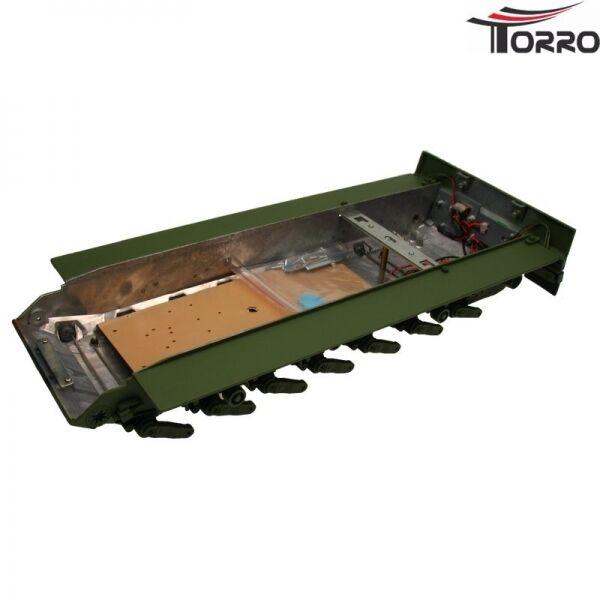 Metallo sotto vasca per Heng Long Panzer 1 16 Leopard 2 a 6 laccato