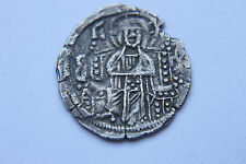 RARE  ANCIENT BYZANTINE SILVER BASILIKON COIN of ANDRONICUS 13th CENTURY AD