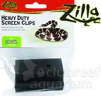 Heavy Duty Reptile 5 - 29 Gallon Cage Screen Cover Clips 2pk Zilla