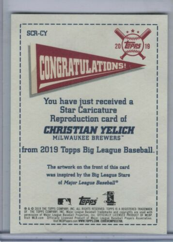 2019 TOPPS BIG LEAGUE STAR CARICATURE Complete Your Set//You Choose the Card