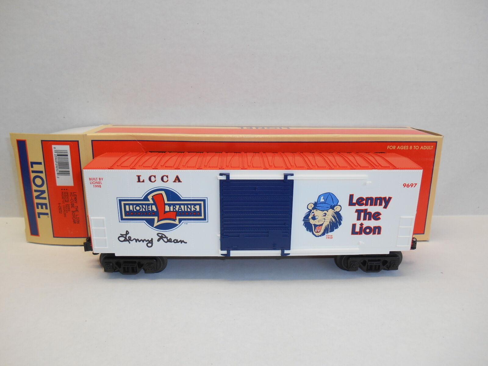 Lionel  29232 LCCA Lenny the Lion Hi-Cube Box Car AUTOGRAPHED by Lenny Dean