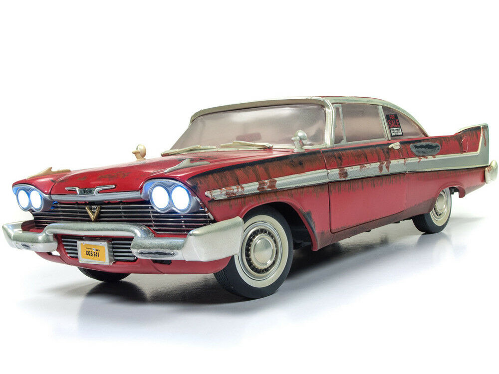 Autoworld 1 18 Sale Rouillé Working Lights 1958 Plymouth Fury Christine AWSS 119