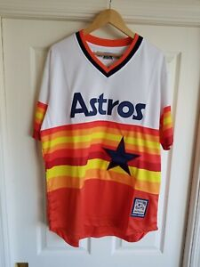 brand new 06cad 99fdd Details about NWT Craig Biggio Houston Astros Men's 1982-1993 Style Retro  SEWN Jersey Size XL