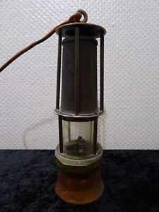 Bergmann-Bergbau-Grubenlampe-Wetterlampe-Vintage