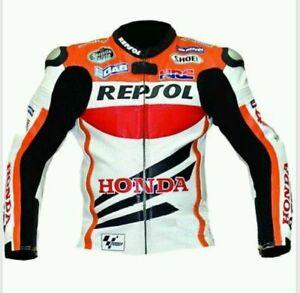 Repsol Motorbike Riding Jacket-Motorcycle Leather Racing Jacket