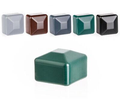 capuchon pour poteau carr/é 80x80 gris Capuchon pour poteau de cl/ôture tube plastique 5 pcs