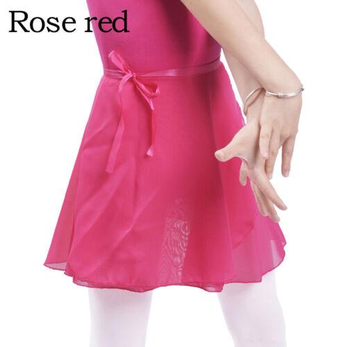 Toddler Kids Girls Chiffon Dance Basic Wrap Skirt Ballet Tutu Dance Dress Skate