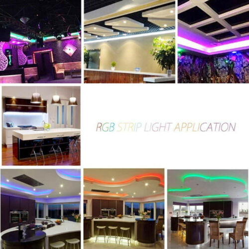 RGB 3528 LED Strip Lights Colour Changing With IR Remote Power Supply 12V
