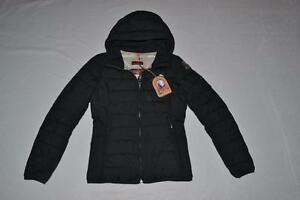 AUTHENTIC-PARAJUMPERS-JULIET-GIRLS-DOWN-JACKET-BLACK-YOUTH-SMALL-BRAND-NEW