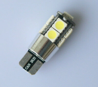 4 x 9 SMD LED CANBUS ERROR FREE CAR SIDE LIGHT BULBS T10 W5W 501 194 XENON WHITE