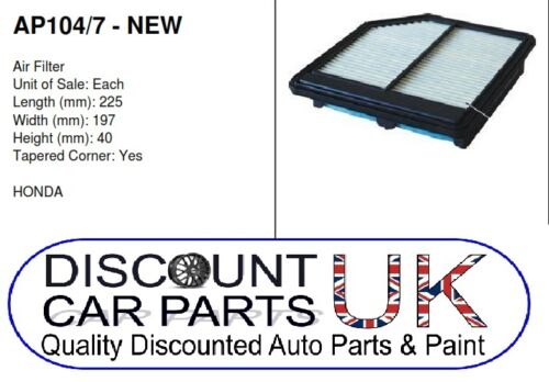 Air Filter to Suit CIVIC 1.8 PETROL 09//05/>