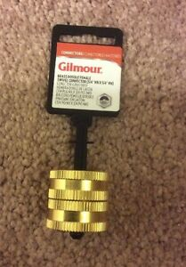 Gilmour 7FHS7FH Double Female Swivel Brass Connector 3//4-Inch by 3//4-Inch