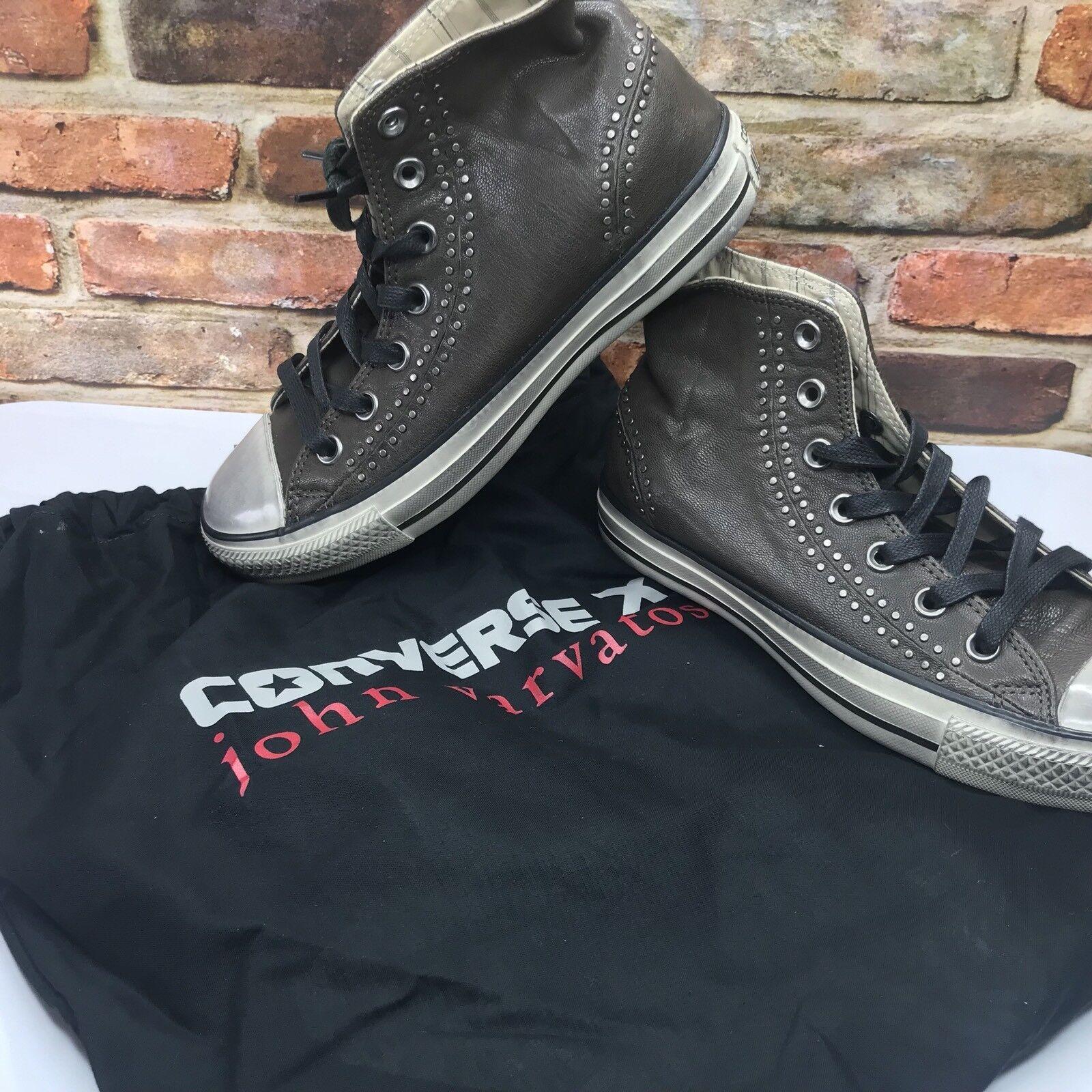 Converse X John Varvatos Etg Dos Séparé Couture Hi Cuir 153882c Femme Taille 7