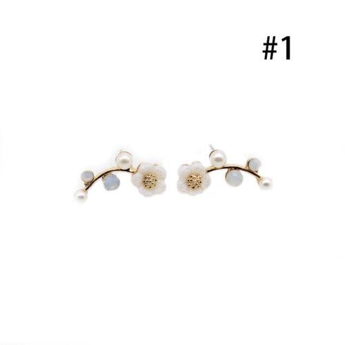 1pair Charme-Perlen Kristall Strass-Ohrring-Bolzen-Hochzeit Braut Ohrringe X6L9