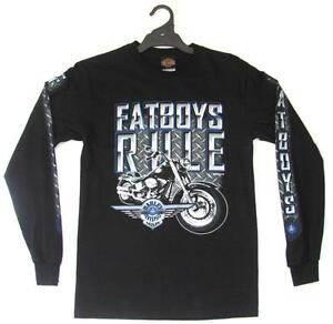 HARLEY DAVIDSON PLATINUM FATBOYS FAT BOYS RULE MENS LONG SLEEVE SHIRT TSHIRT