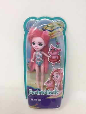 "Mattel Enchantimals Petya Pig Doll Beach Swimsuit 6/"" XL"