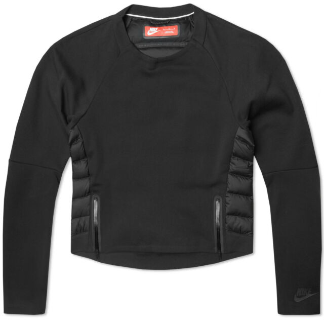 Fleece Crew Xs Tech Black Aeroloft Sweatshirt 683935 Nike Women's qgt5Caw